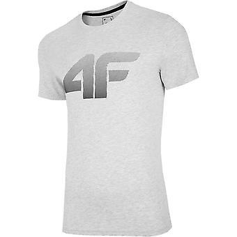 4F TSM004 NOSH4TSM004CHODNYJASNYSZARYMELAN universal all year men t-shirt