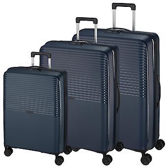 d&n Travel Line 4000 Suitcase Set 3-delige 4 wielen S-M-L, Blauw