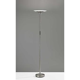 "14"" X 14"" X 70.5"" Brushed Steel Metal LED Torchiere"