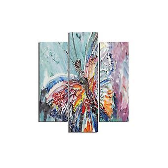 Malerei Multicolor Luciella in MDF, L19xP0.3xA50 cm (2 Stück), L19xP0.3xA60 cm (1 Stück)