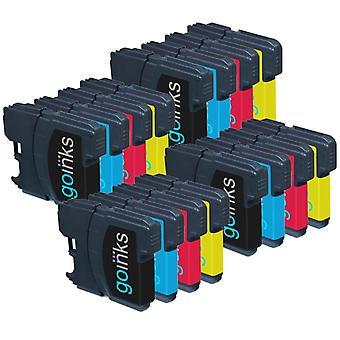 4 set di cartucce di inchiostro per sostituire Brother LC985 Compatibile / non-OEM per le stampanti Brother DCP & MFC (16 inchiostri)