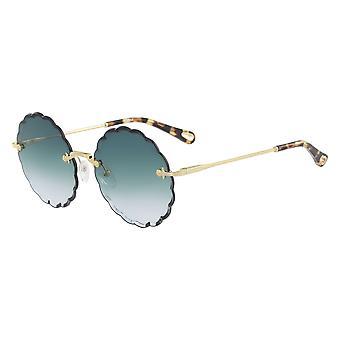 Chloe Rosie Petite Flower CE142S 838 Gold/Petrol Gradient Sunglasses