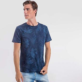 Camiseta de marinha prateada
