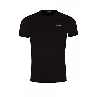 DSQUARED2 Bomuld Enkel Sort T-shirt