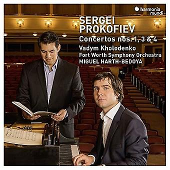 Prokofiev: Piano Concertos Nos.1, 3 & 4 [CD] USA import