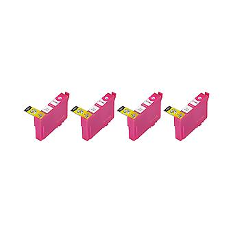 RudyTwos 4x Replacement for Epson Stag Ink Unit Magenta(ExtraHighYield) Compatible with Stylus B42WD, BX525WD, BX535WD, BX625FWD, BX630FW, BX635FWD, BX925FWD, BX935FWD, SX525WD, SX535WD, SX620FW, Work