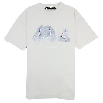 Palm Angels Ice Bear Logo T Shirt Mint White