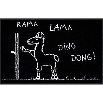 Salon lion doormat Rama Lama Ding Dong 50 x 75 cm floor mats washable