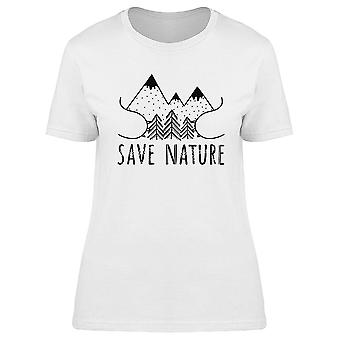 Save The Nature Tee Women's -Image by Shutterstock