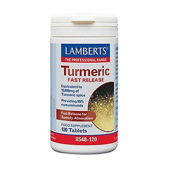 Quick release turmeric 120 capsules of 10000mg