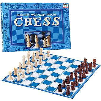 John Adams Luxusné pevný drevený šach