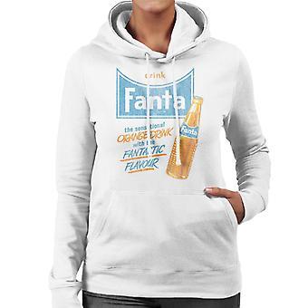 Drink Fanta 1960s Fantastic Flavour Women's Hooded Sweatshirt