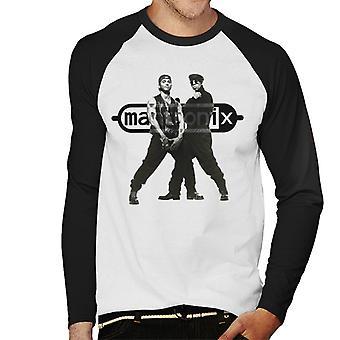 Mantronix Duo Shot Men's Baseball Long Sleeved T-Shirt