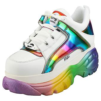 Buffalo 1339-14 2.0 Womens Platform Trainers in White Multicolour