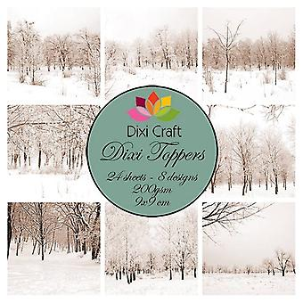 Dixi Craft Dixi Toppers 9x9cm Winter Landscape Vintage
