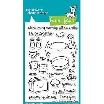 Lawn Fawn Clear Stamps - Love 'N Ontbijt