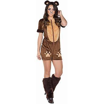 Bear Yleistä Naisten puku otsapanta Gauntlets Bear puku Karnevaali animal puku Nallekarhu