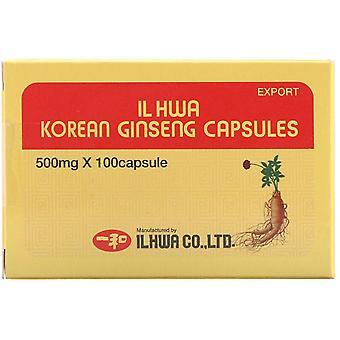 Ilhwa, Korean Ginseng Capsules, 500 mg, 100 Capsules