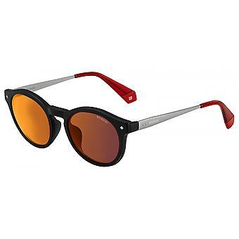 نظارات شمسية للجنسين 6081OIT/OZ Panthos الأسود / الأحمر