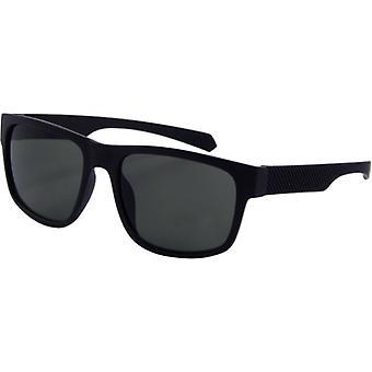 Sunglasses Unisex BASIC Kat. 3 matt black/green (166-A)