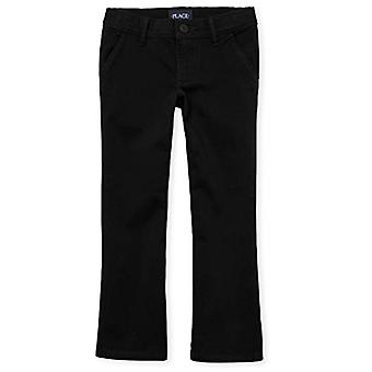 The Children's Place Big Girls' Uniform Pants, Black 43302, 6X/7