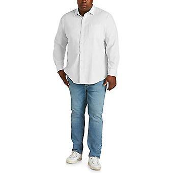 Essentials Men&apos&s Big & Tall طويل الأكمام الكتان القطن قميص تناسب من قبل DXL,...