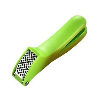 Garlic Press Plastic Crusher Ginger Press Food Grade Green