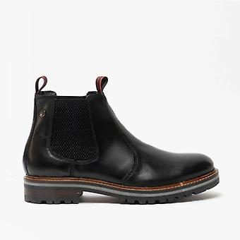 Base London Hadrian Mens Leather Chelsea Boots Black