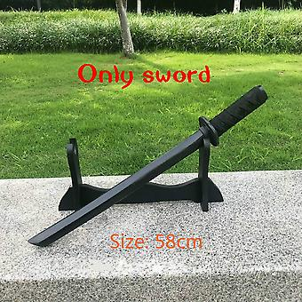 58cm Wooden Sword Weapon Knife Toy- Cosplay Anime Nihontou Ninja Samurai Sword Katana Espada Performance Props For Teen
