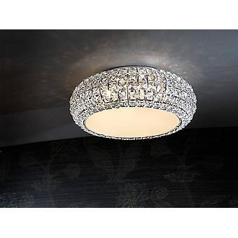 Schuller Diamond - 6 Licht Crystal Flush Plafond licht chroom, G9