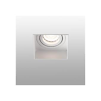 Faro Hyde - Quadrado inclinado branco rebaixado Downlight Trimless, GU10