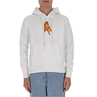 Off-white Ombb034f20fle0030110 Mænd's Hvid Bomuld Sweatshirt