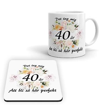 40 lat urodziny Kubek + Pakiet Coaster