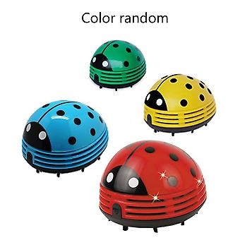 Mini Size Lovely Cute Cartoon Ladybug -shape Desktop Vacuum Cleaner For Home Office Keyboard Dust (random Color)