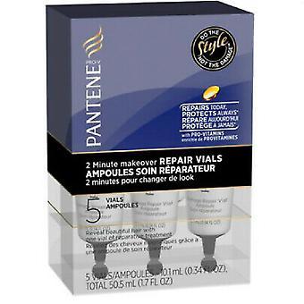 Pantene Repair Vials, 2-Minute Make Over, 5 Vials of 10.1mL