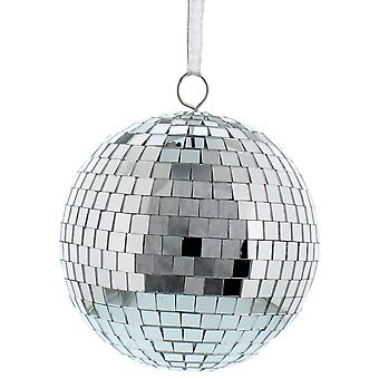 15cm Single Large Mirror Ball Christmas Hanging Decoration Bauble