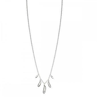 Elements Silver Highly Polished Dew Drop Necklace N4179