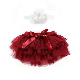 0-24m Infant Nyfödda Baby Tutu, Princess Bow Tulle Ball Klänning Kjolar- Jul