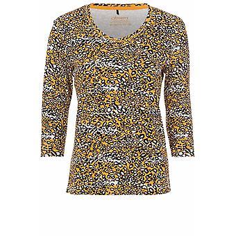 Olsen Amber Patterned T-Shirt