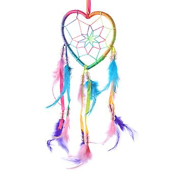 Decorative Heart Shaped Rainbow Dreamcatcher X 1 Pack