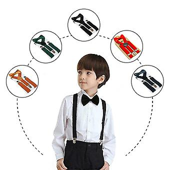 Kids Suspenders With Bowtie, Braces Adjustable