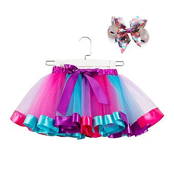 Bow+tutu Skirt Baby Girls 12m-8t Princess Pettiskirt Rainbow Party Tutu For Girls Christmas Clothing