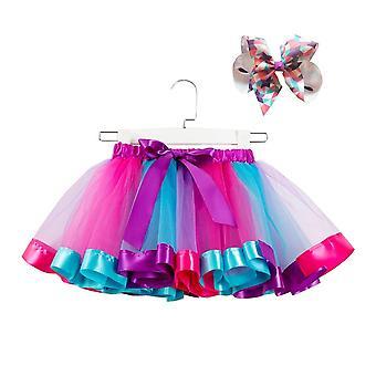 Bow + tutu szoknya baba lányok 12m-8t Princess Pettiskirt Rainbow Party Tutu Lányoknak karácsonyi ruházat