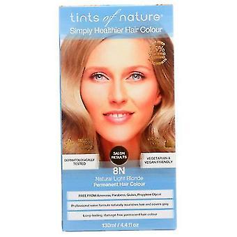 Tints of Nature Permanent Hair Color, 8N Natural Light Blonder 4.4 Oz