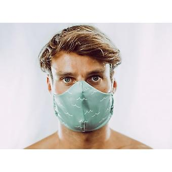 Non-medical oral mask | Green Waves | 4-Lows