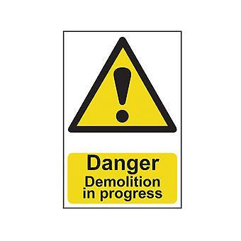 Scanare pericol demolare în curs - PVC 400 x 600mm SCA4106