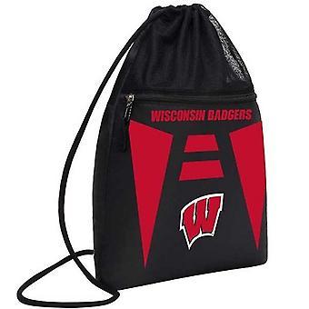 Wisconsin Badgers NCAA Cinch Back Sack Drawstring Bag