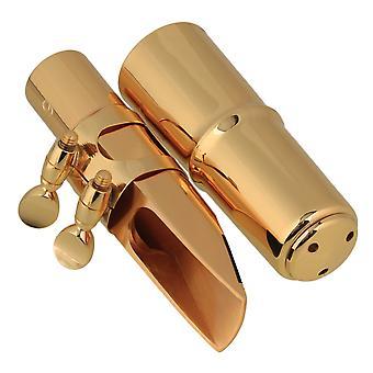 Złoty 6# Plastikowy ustnik saksofonowy z czapką Ligature do E-płaskiego saksofonu altowego