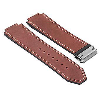 Strapsco dassari-vintage-læder-rem-for-hublot-big-bang-med-børstet-stål-lås
