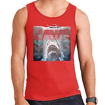 Jaws Layered Text Logo Men's Vest